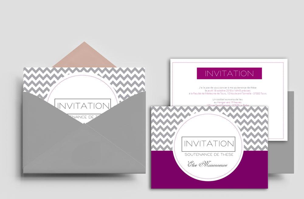 Carton Invitation soutenance de thèse