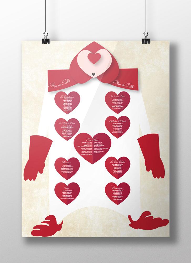 Plan de table Mariage thème (c) Disney
