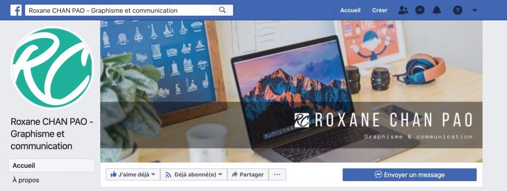 Bannière Facebook Roxane Chan Pao Graphisme et Communication