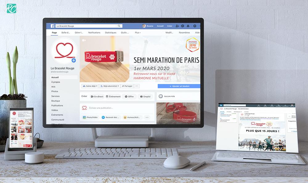 Social Media Le Bracelet Rouge