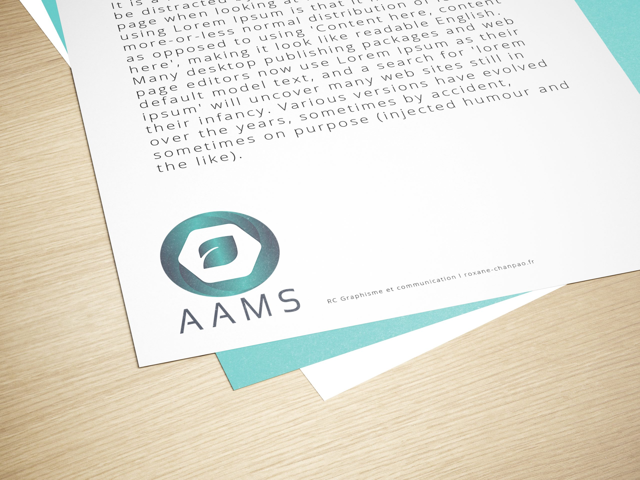 Logo AAMS - Advanced Assisted Manufacturing Solutions - by Roxane Chan Pao graphic designer à Tours