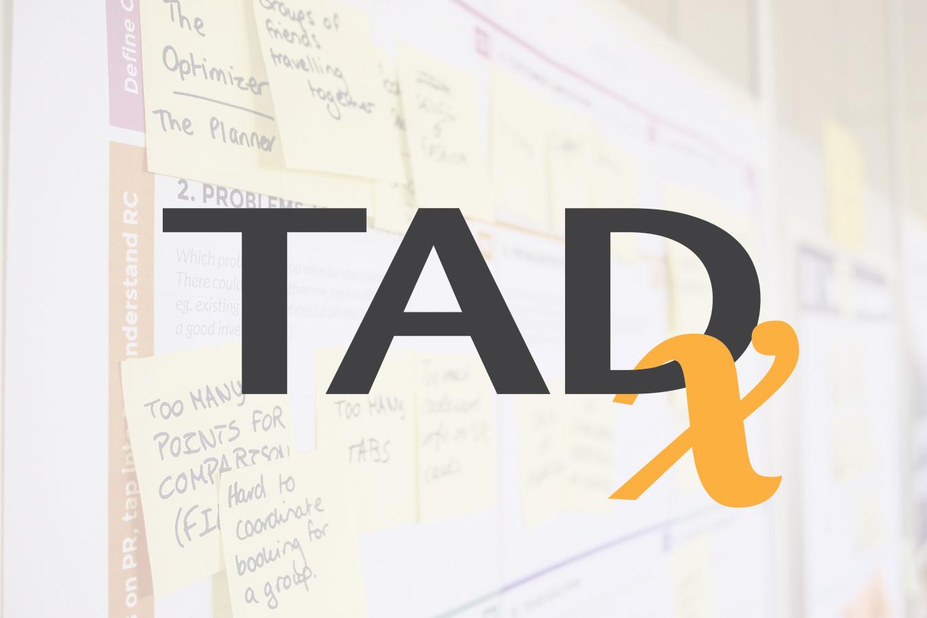 Logo TADx par Roxane CHAN PAO