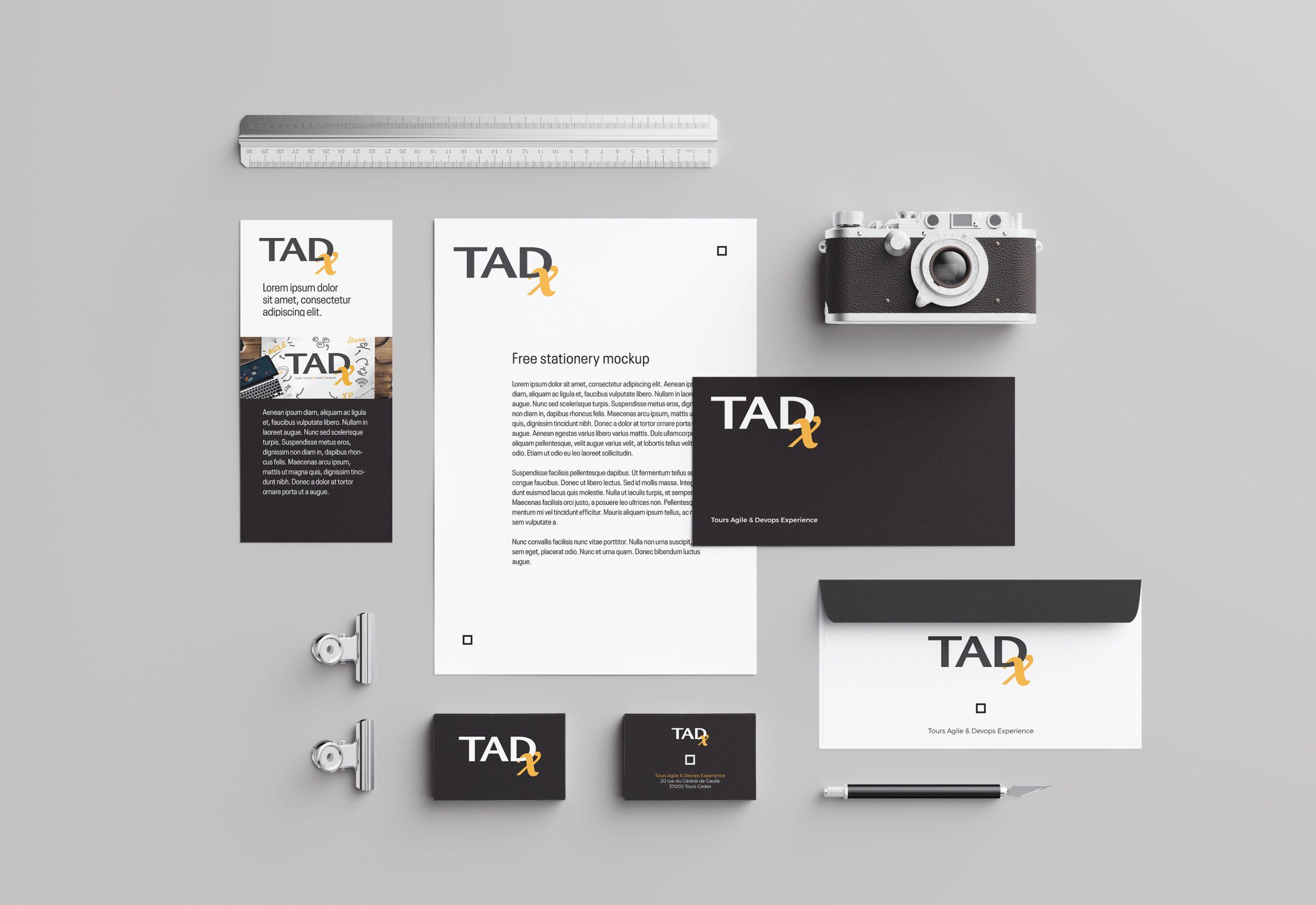 Tadx identité visuelle par Roxane CHAN PAO